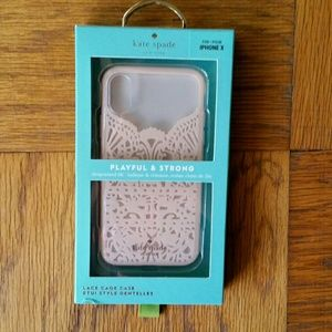 Kate Spade Pale Pink Lace Hardshell iPhone X Case